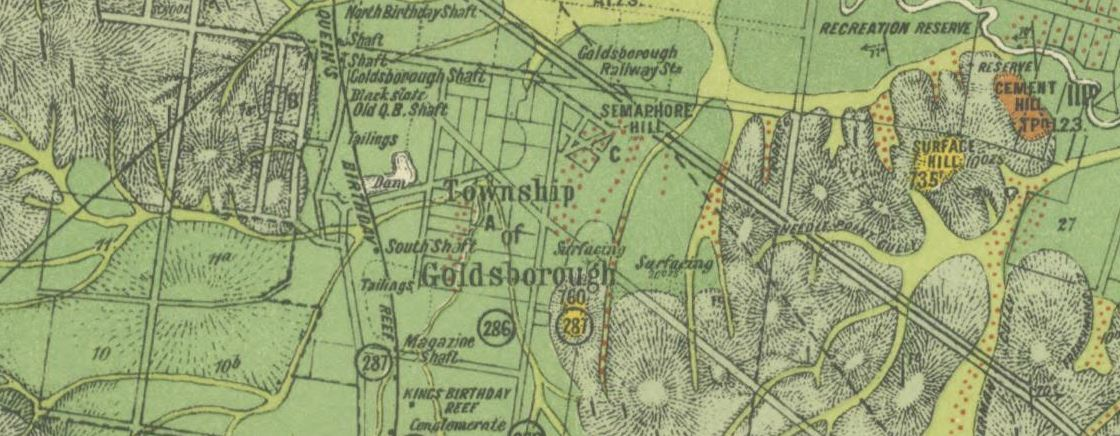 Historical gold maps of the Victorian Goldfields